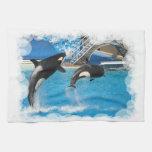 Toalla de cocina de las ballenas de la orca
