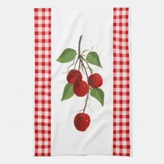Toalla de cocina de las cerezas