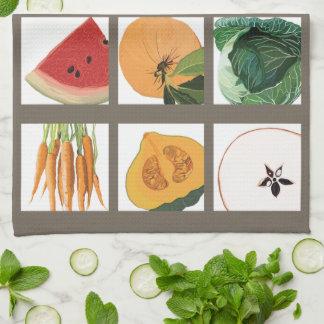 Toalla de cocina de las frutas y verduras de la es