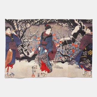 Toalla de cocina de las mujeres de Kuniyoshi tres