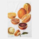 Toalla de cocina de las naranjas de sangre