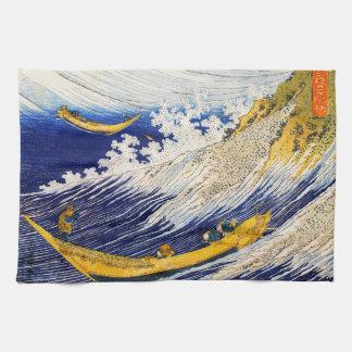 Toalla de cocina de las olas oceánicas de Hokusai