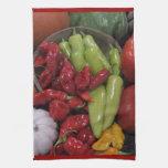 Toalla de cocina de las pimientas de chile