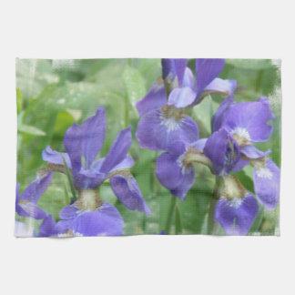 Toalla de cocina de los bulbos del iris