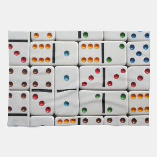 Toalla de cocina de los dominós