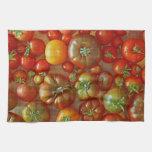 Toalla de cocina de los tomates de la herencia