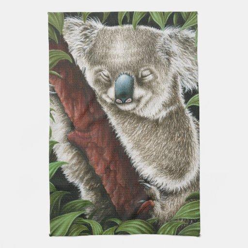 Toalla de cocina de MoJo del americano de la koala