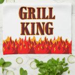 Toalla de cocina de rey Red Flames de la parrilla