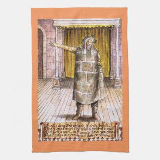 Toalla de cocina de Shakespeare de la pared de