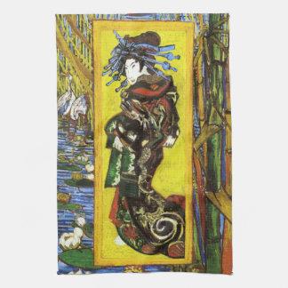 Toalla de cocina de Van Gogh Japonaiserie Oiran