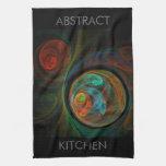 Toalla de cocina del arte abstracto del renacimien