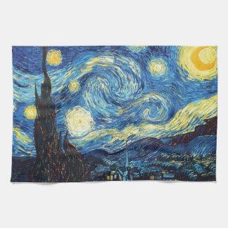 Toalla de cocina del arte de la noche estrellada