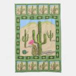 Toalla de cocina del cactus del desierto