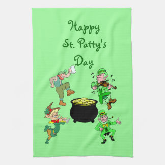 Toalla de cocina del día del St. Patty feliz