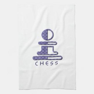 Toalla de cocina del empeño del ajedrez