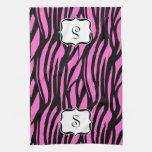 Toalla de cocina del estampado de zebra de las ros