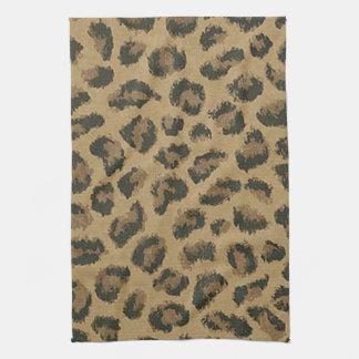 Toalla de cocina del estampado leopardo