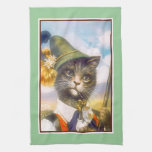 Toalla de cocina del gato de Tabby de Arturo Thiel