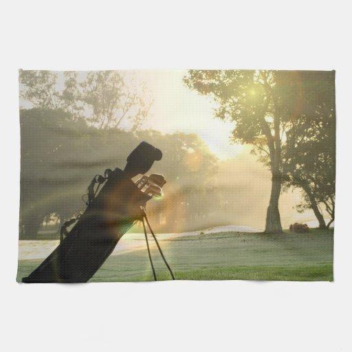 Toalla de cocina del golf