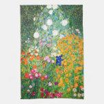 Toalla de cocina del jardín de flores de Gustavo K
