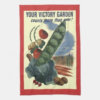 Toalla de cocina del jardín de victoria del vintag