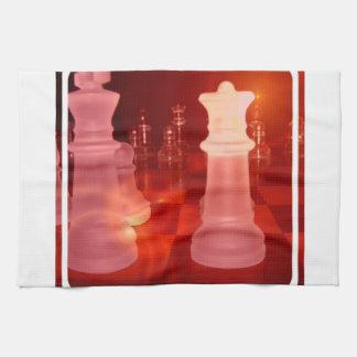 Toalla de cocina del juego del ajedrez