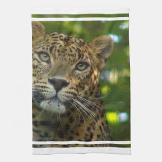 Toalla de cocina del leopardo