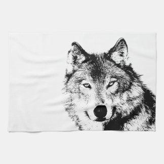 Toalla de cocina del lobo