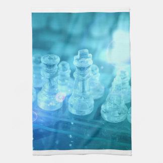 Toalla de cocina del partido del ajedrez