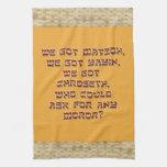 Toalla de cocina del Passover de Punny con la fron