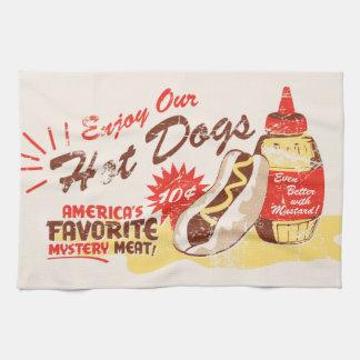 Toalla de cocina del perrito caliente