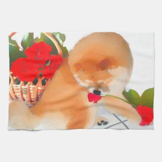 Toalla de cocina del perro chino del heARTdog de