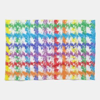 Toalla de cocina del rasguño del arco iris