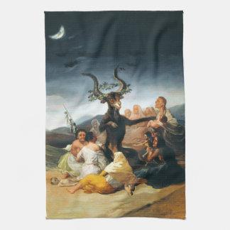 Toalla de cocina del Sabat de las brujas de Goya