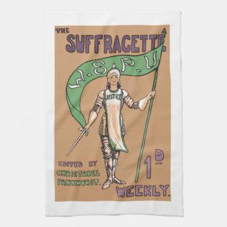 Toalla de cocina del Suffragette de la vintage muj
