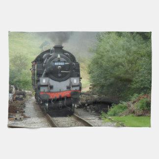 Toalla de cocina del tren del vapor
