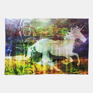 Toalla de cocina del unicornio del cuento de hadas