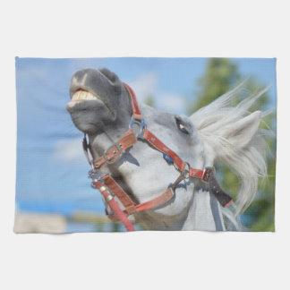 Toalla de cocina divertida del caballo