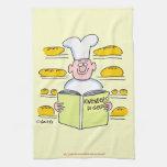 Toalla de cocina divertida del panadero del pan