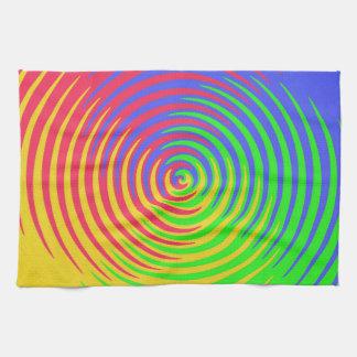 Toalla de cocina espiral del arco iris