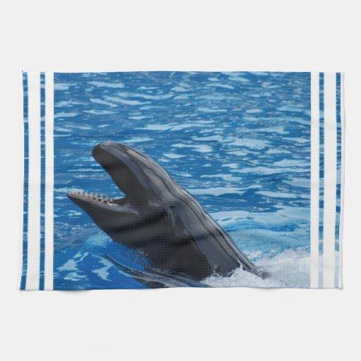 Toalla de cocina falsa de la orca
