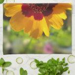 Toalla de cocina - flor combinada