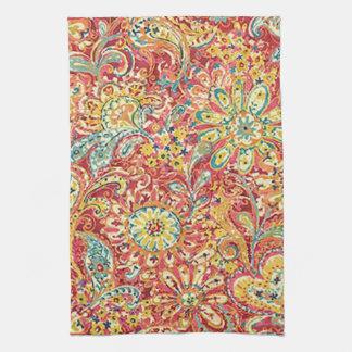 Toalla de cocina floral colorida