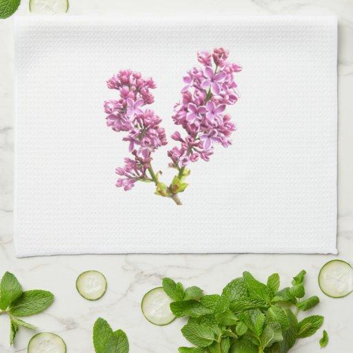 Toalla de cocina - flores de la lila