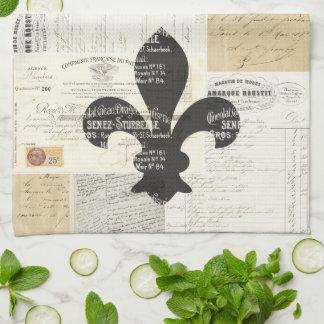 Toalla de cocina francesa de las Ephemeras de la f
