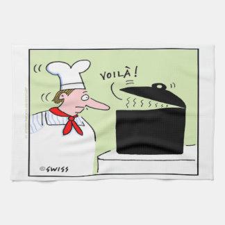 Toalla de cocina francesa divertida del dibujo