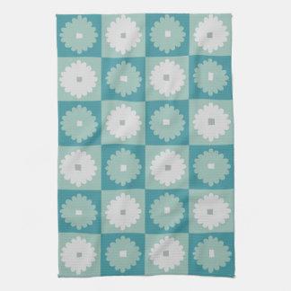 Toalla de cocina geométrica moderna de las flores