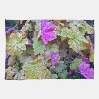Toalla de cocina hermosa del follaje del jardín