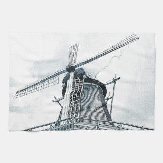 Toalla de cocina holandesa del molino de viento