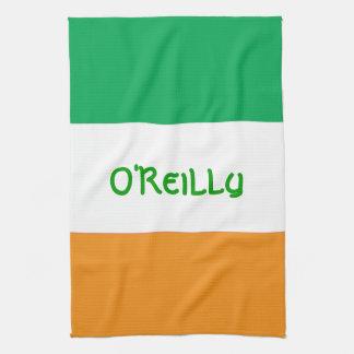 Toalla de cocina Irlandés-Americana de encargo de